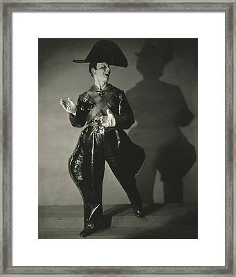 Toto, The Clown Of The Greenwich Village Follies Framed Print
