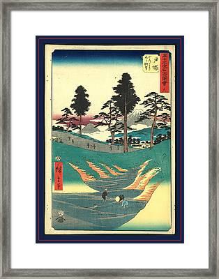 Totsuka, Ando Ca. 1855, 1 Print  Woodcut Framed Print by Utagawa Hiroshige Also And? Hiroshige (1797-1858), Japanese