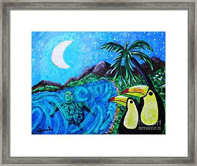 Toucan Bay Framed Print by Sarah Loft