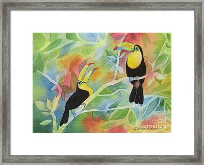 Toucan Play At This Game Framed Print by Deborah Ronglien