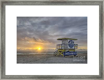 Touch A New Day Framed Print by Evelina Kremsdorf
