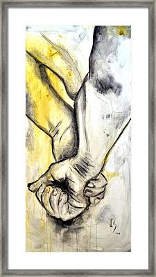 Touch Framed Print by Ivan Guaderrama