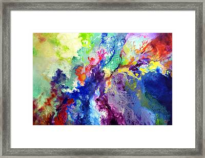 Touch Me Here Framed Print