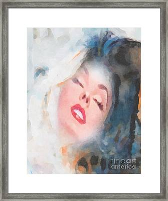 Touch Framed Print by Mo T