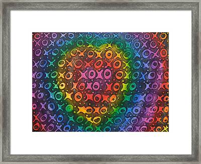 Touch My Heart Framed Print