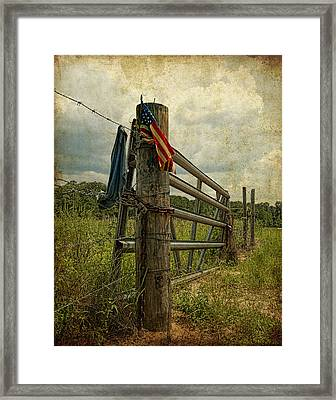Touch Of Americana Framed Print