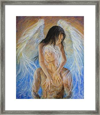 Touch Of An Angel Framed Print by Nik Helbig