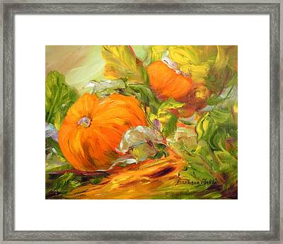 Touch Of Autumn Framed Print by Barbara Pirkle
