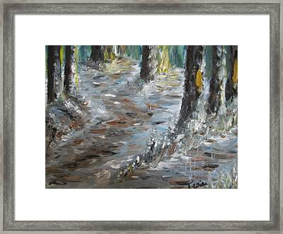 Framed Print featuring the painting Touch Of Christmas by Teresa White