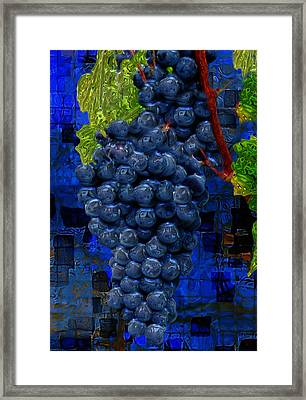 Touch Of The Grape Framed Print