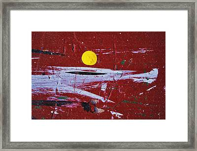 Touch Of Yellow... Framed Print