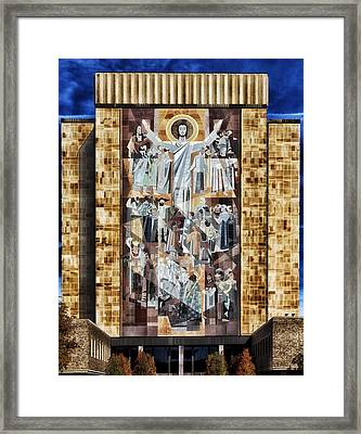 Touchdown Jesus Framed Print by Mountain Dreams