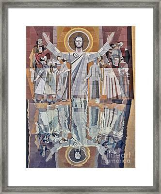 Touchdown Jesus Framed Print