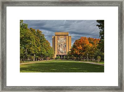 Touchdown Jesus Framed Print by John M Bailey