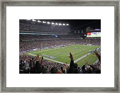 Touchdown Patriots Nation Framed Print by Juergen Roth