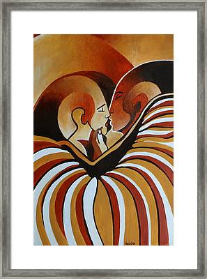 Framed Print featuring the painting Touched By Africa I by Tracey Harrington-Simpson