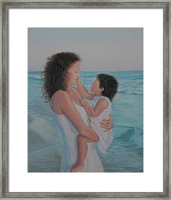 Touched By An Angel Framed Print by Holly Kallie