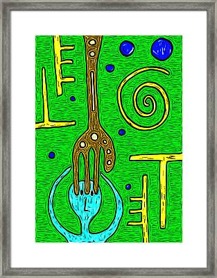 Touched In The Head Framed Print by e9Art