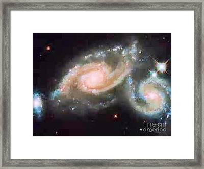 Touching Galaxies Framed Print