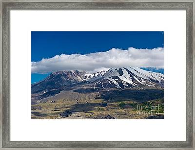 Touching Mt. St. Helens Framed Print by Jackie Follett