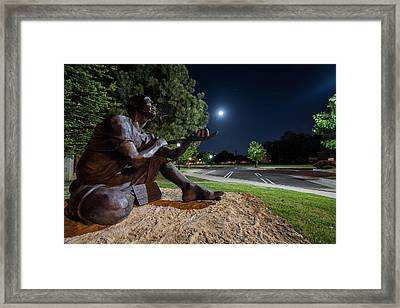 Touching The Moon Framed Print