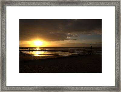 Touching The Sea Framed Print by Dave Woodbridge