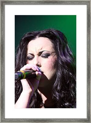 Touching Vocals Framed Print by Shoal Hollingsworth