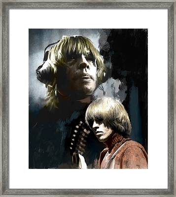 Touchstone Brian Jones Framed Print by Iconic Images Art Gallery David Pucciarelli