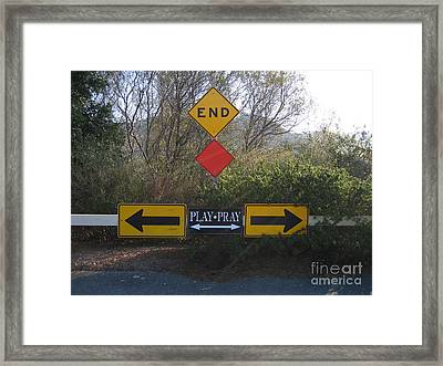 Tough Decision Framed Print