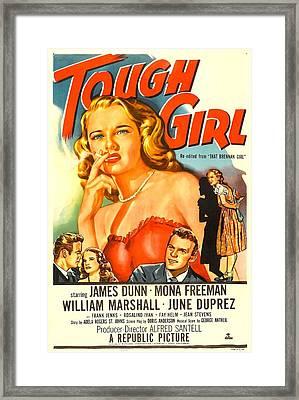 Tough Girl, Aka That Brennan Girl, Us Framed Print by Everett