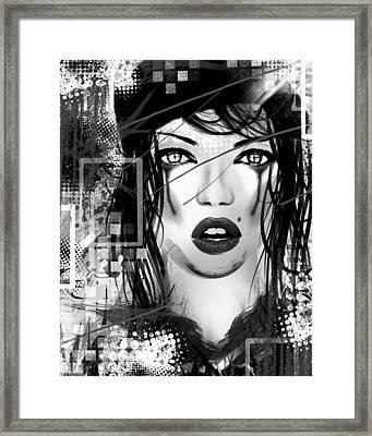Tough Love Black Framed Print