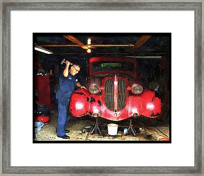 Tough Love Framed Print by Mike Bowers