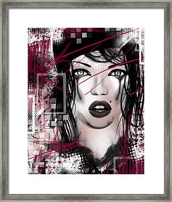 Tough Love Pink Framed Print by Melissa Smith