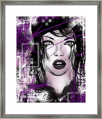Tough Love Purple Framed Print by Melissa Smith