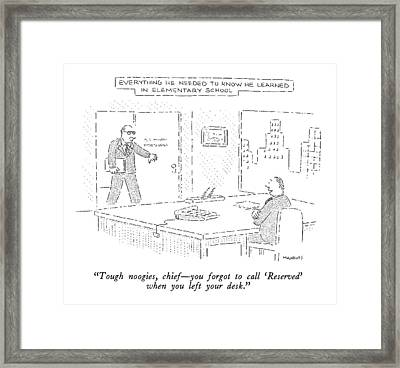 Tough Noogies Framed Print by Robert Mankoff