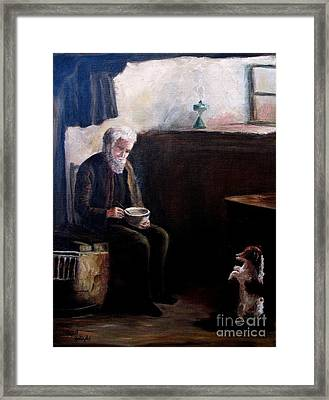 Tough Times Framed Print by Hazel Holland