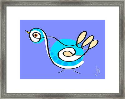 Thoughts And Colors Series Bird Framed Print by Veronica Minozzi