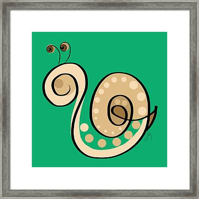 Thoughts And Colors Series Snail Framed Print