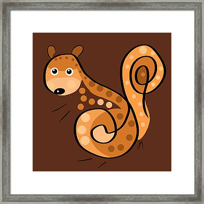 Thoughts And Colors Series Squirrel Framed Print by Veronica Minozzi