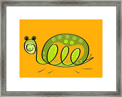 Thoughts And Colors Series Turtle Framed Print