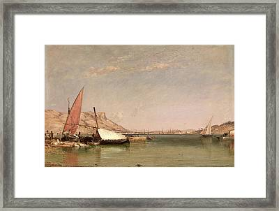 Toulon  Signed Lower Right E. W. Cooke R Framed Print by Litz Collection