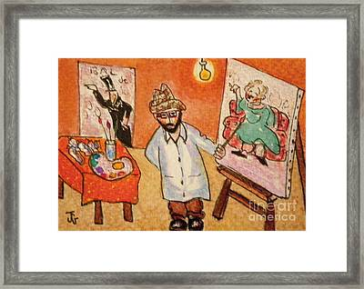 Toulouse At His Easel Framed Print