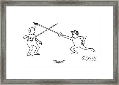 Toupee! Framed Print by Sam Gross