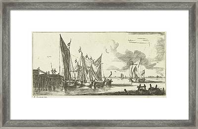Tour Bangers Or Toll Damse Fishing Boats Framed Print