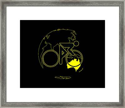 Framed Print featuring the digital art Tour De France 2011 Tribute by Brian Carson