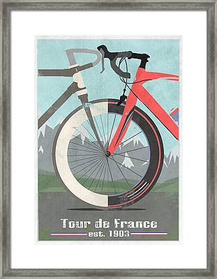 Tour De France Bicycle Framed Print