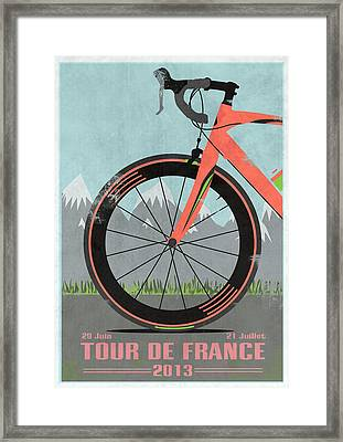 Tour De France Bike Framed Print by Andy Scullion