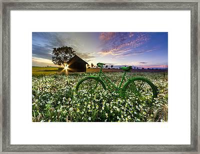 Tour De France Framed Print by Debra and Dave Vanderlaan