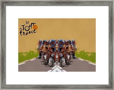 Tour De France Simple Framed Print by Dan Sproul
