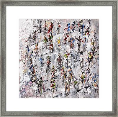 Tour De France Stage 2 Framed Print by Neil McBride